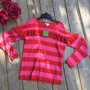 NWT Kate Spade Girls Lollipop Red Ruffle Sweater